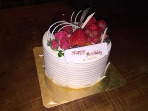 誕生日ケーキ@道玄坂TV